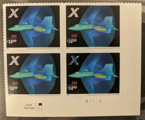 US Stamp #4019 Mint NH Plate Block of 4 X-Plane Express Mail