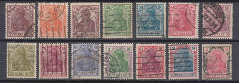 Germany - 1920 Last Germania set Mi## 140/153   (1270)