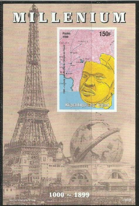 TCHAD CIAD CHAD 1999 MILLENIUM Commercial routes in West Africa SHEET FOGLIET...