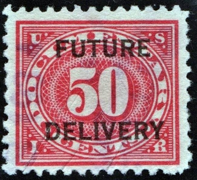 RC8 50¢ Future Delivery Stamp (1918) Cut Cancelled