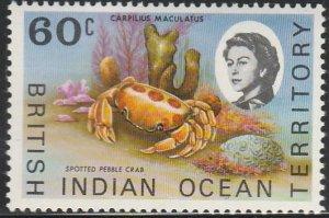 British Indian Ocean Territory, # 25 Unused From 1968-73.
