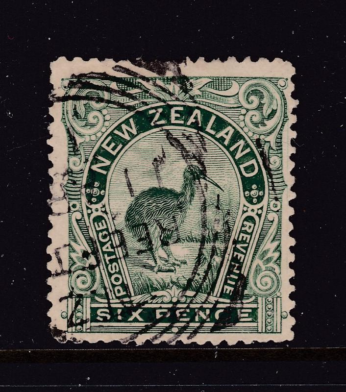 New Zealand an 1898 green 6d kiwi used