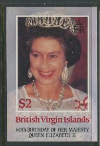Virgin Is.- Scott 535 - QEII 60th Birthday -1986 - MVLH - Single $2.00c Stamp