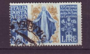 J21624 Jlstamps 1948 italy used #c128 st catherine off center