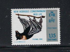 British New Hebrides 186 MNH 1974Flying Fox