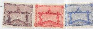 Uruguay #388-390 (MH) CV $48.00
