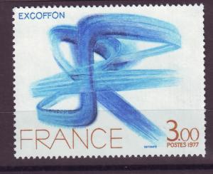 J14347 JLstamps 1977 france set of 1 mnh #1559 abstract art
