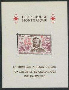 Monaco 1978 Henri Dunant & Red Cross S/S Sc# 1137 NH
