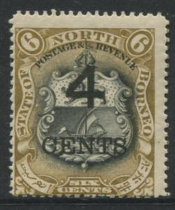 North Borneo - Scott 125 -Definitive Issue - 1904 - MNH -Single 4c on a 6c Stamp
