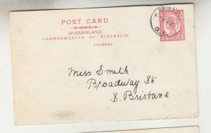 QUEENSLAND, Postal Card 1911 1d. Red, Brisbane to South Brisbane