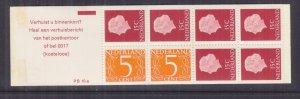 NETHERLANDS, 1971 Booklet, PB 10-a, Orange cover, mnh.