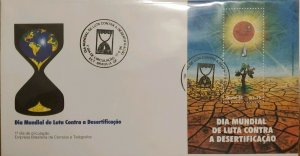 A) 1996, BRAZIL, GLOBAL WARMING, FDC, WORLD DAY OF FIGHT AGAINST DESERTIFICATION