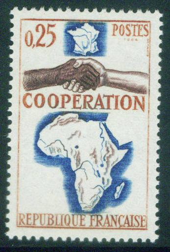 France Scott 1111 MNH** 1964 Map Africa cooperation stamp