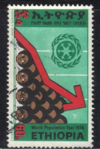 ETHIOPIA  SC# 711 **USED** 60c  1974  Chart SEE SCAN