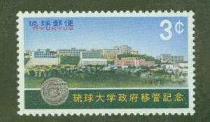 RYUKYU Scott 145 MNH** University stamp 1966