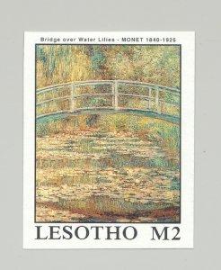 Lesotho #666 Art, Monet 1v Imperf Proof