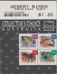 Australia stamp Birds block of 4 + self-adhesive stripe of 4 MNH 2001 WS120849
