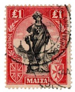 (I.B) Malta Revenue : Duty Stamp £1
