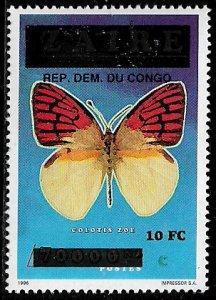 Zaire #1545 MNH Stamp - Butterfly Overprint (See Desc)