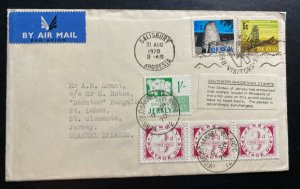 19 Salisbury Southern Rhodesia Cover To Jersey Channel Islands Postage Due