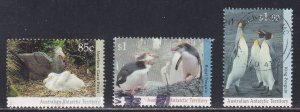 Australian Antarctic Territory # L85, 86A & 89, Penguins, Used, 1/3 Cat.