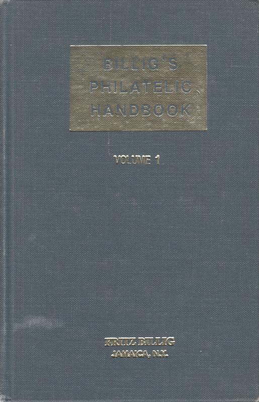 Billig's Philatelic Handbook, Vol 1 used. NYFM cancels, Austria, Hungarian cance
