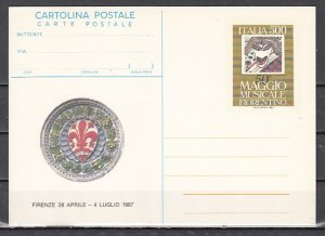 Italy, 1987 issue. Maggio Musicale Postal Card. ^