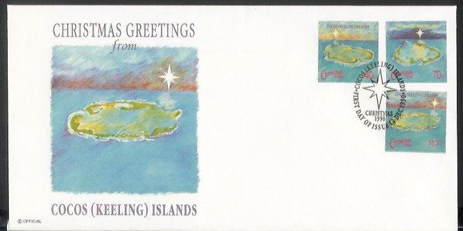 Cocos Is - 1990 Christmas (FDC)
