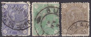 Romania #102-3, 105 F-VF Used CV $4.75 (A19858)