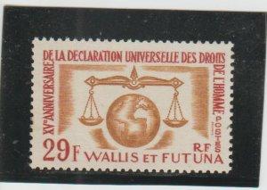 Wallis & Futuna Islands  Scott#  166  MH  (1963 Human Rights)