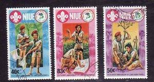 Niue-Sc#372-4- id5-used set-Boy Scouts-1983-