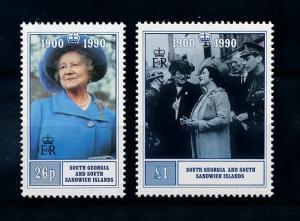 [71792] South Georgia 1990 Royalty Queen Mother  MNH