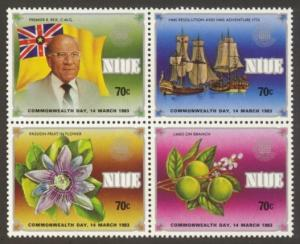 Niue Sc#  368-71 MNH Commonwealth Day (Block of 4)