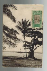 1930 Conakry French Guinea RPPC Real Picture Postcard Cover to France Lighthouse