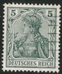 Germany Scott 82 used 1905 5p Germania wmk 125