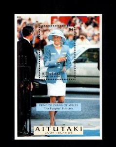 AITUTAKI - 1976 - PRINCESS DIANA OF WALES - PEOPLES PRINCESS- MINT MNH S/SHEET!