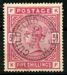 GREAT BRITAIN SCOTT#108 USED GUILFORD CDC 1901 SOCKED ON THE NOSE CANCEL