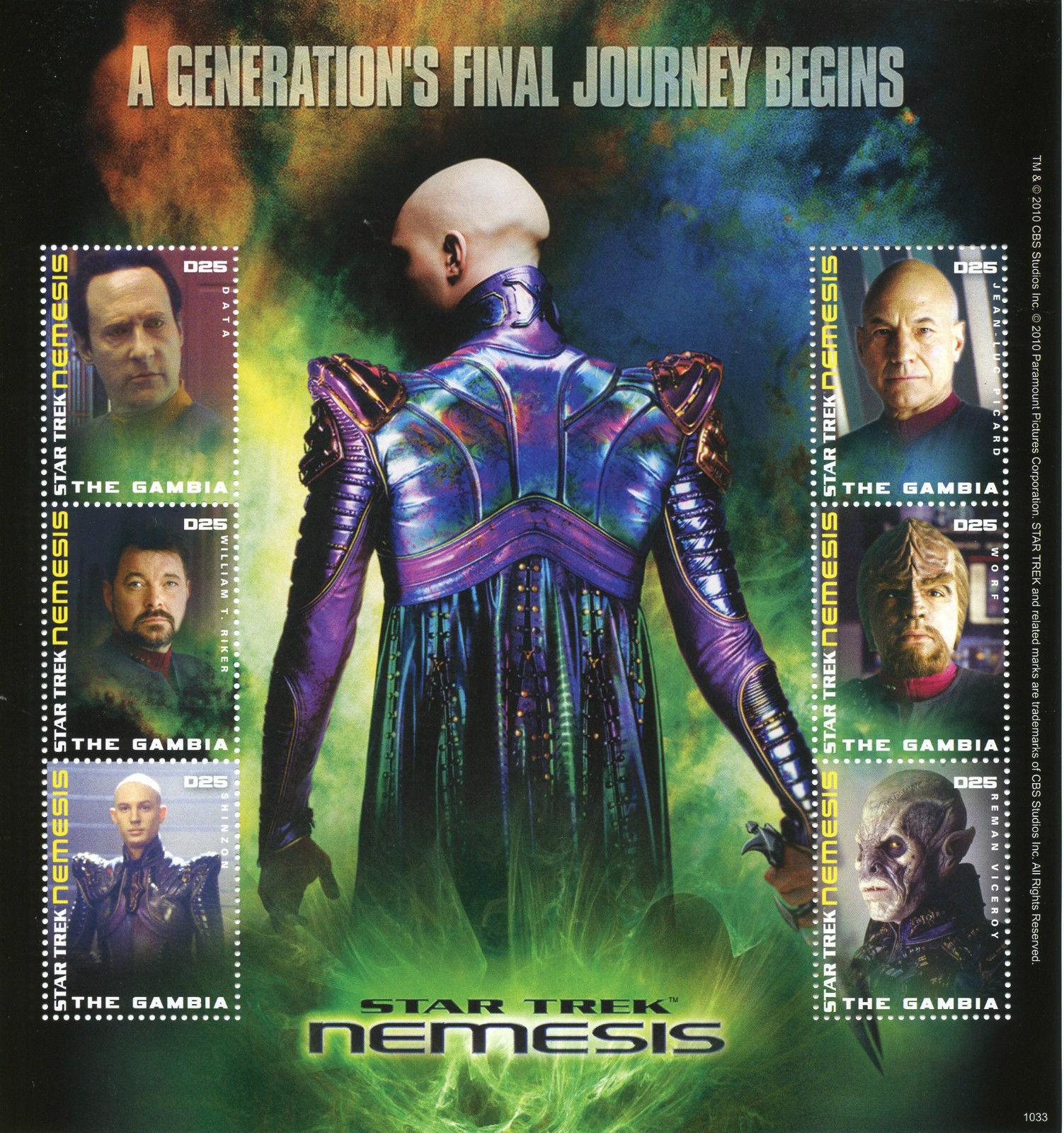 Antigua MNH 2008 Star Trek Sheet of 6 stamps