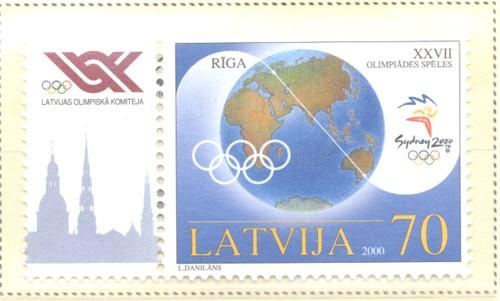 Latvia Sc 513 2000 Sydney Olympics stamp mint NH