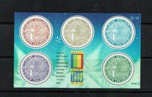 New Zealand: 2000, Expo World Stamp Exhibition, California, Miniature Sheet