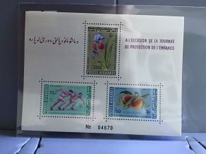 Afghanistan 1962 Children's Day  mint never hinged stamps sheet R26927