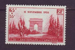 J24629 JLstamps 1938 france set of 1 mh #b77 victory parade