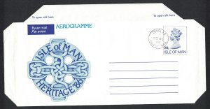 Isle of Man Heritage Aerogramme Non-illustrated 1996 Cancelled