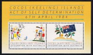Cocos Islands Scott 125a-125b Mint never hinged.