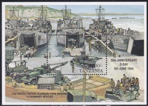 Tanzania # 1726, D-Day Landing Preparations, Mint NH, 1/2 Cat.