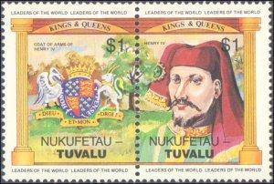 Tuvalu-Nukufetau #14-19, Complete Set(6), 1984, Royality, Never Hinged