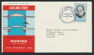 1965 Qantas FFCover - Auckland to Sydney AAMC 1564 SPECIAL see details