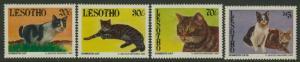 Lesotho 989-92 MNH Domestic Cats