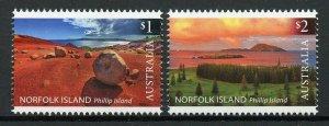 Norfolk Island 2019 MNH Phillip Island Landscapes 2v Set Trees Tourism Stamps