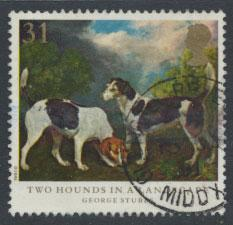 Great Britain SG 1533  Used  - Dogs George Stubbs Painting